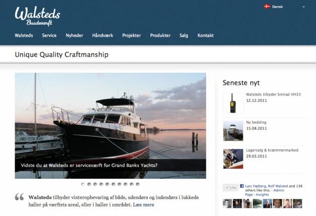 Ny hjemmeside online